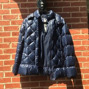 Girls add Jacket Navy Quilted Perfect Condition